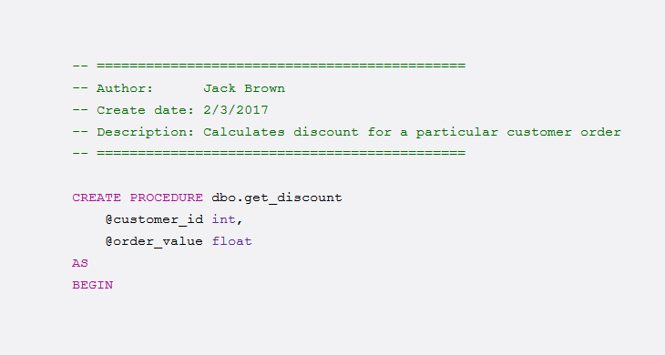 How to Document Stored Procedures and Functions in Database