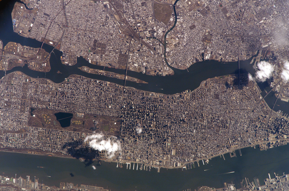 Manhattan from space