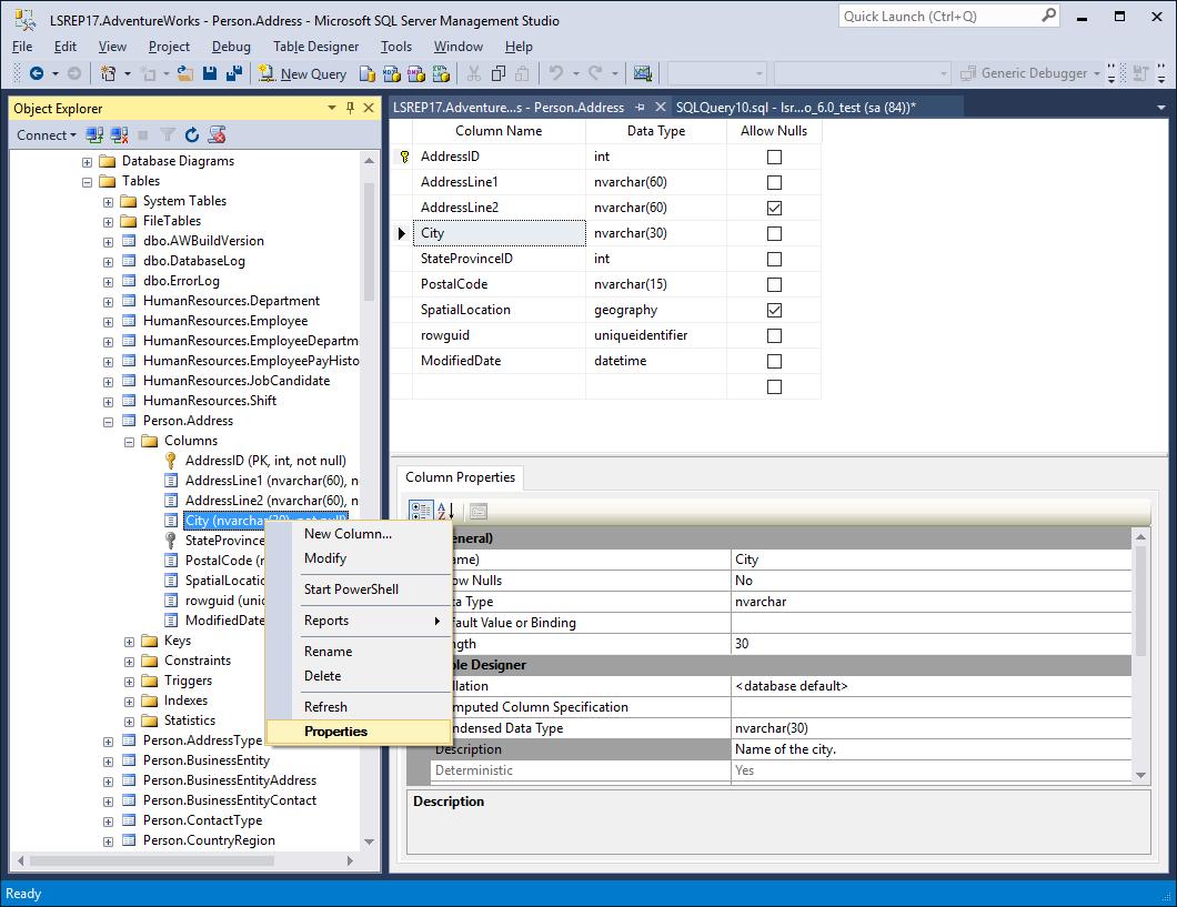 4 ways to edit column descriptions in SQL Server Management Studio