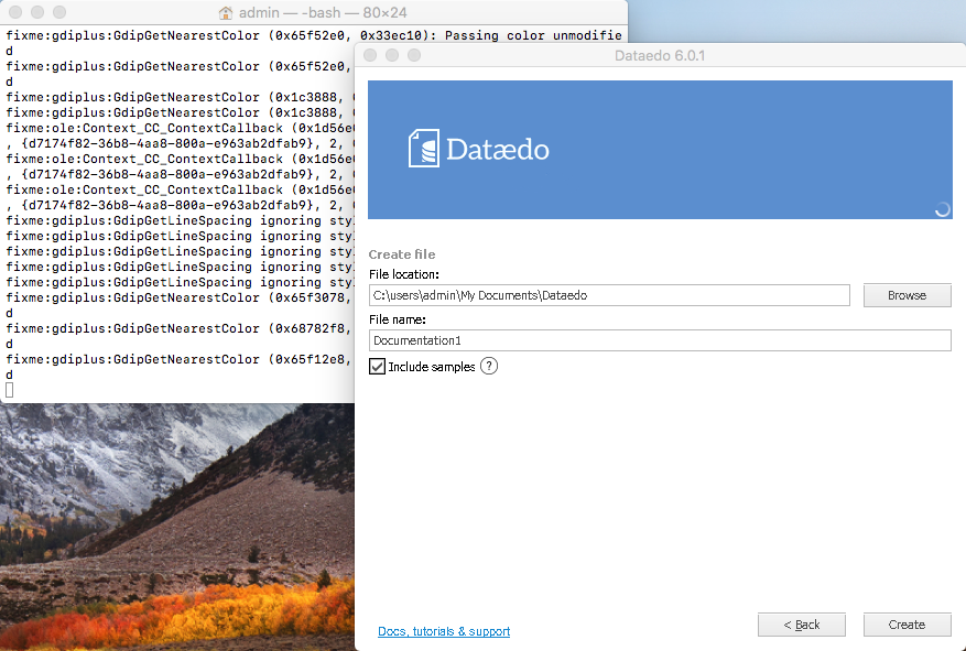 Dataedo on macOS - open file