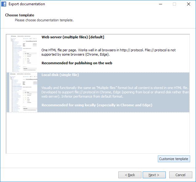 Branding and customizing HTML export - Dataedo Documentation