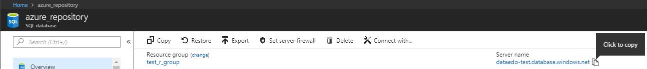 Copy the server name