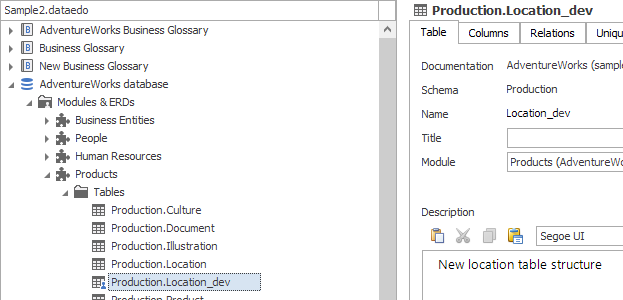 Manual tables in existing documentations