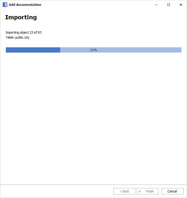 Importing documentation