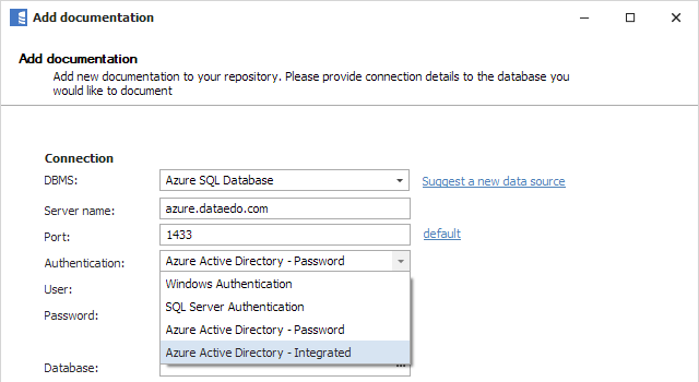 Azure Authentication Support
