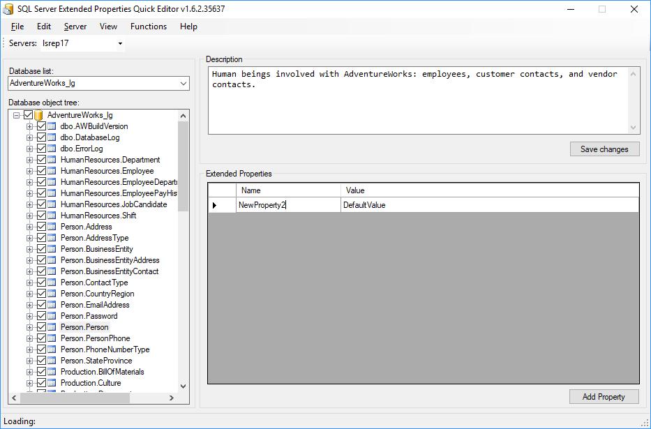 Best SQL Server extended properties editors - Database tools