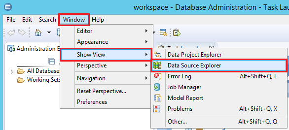 how to create er diagram for existing database with ibm