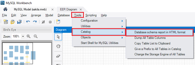 How to export data dictionary with MySQL Workbench - MySQL