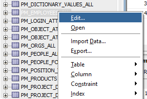 How to view table foreign keys (FKs) in Oracle SQL Developer