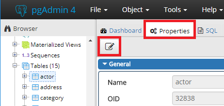 How to view and edit table and column comments with in