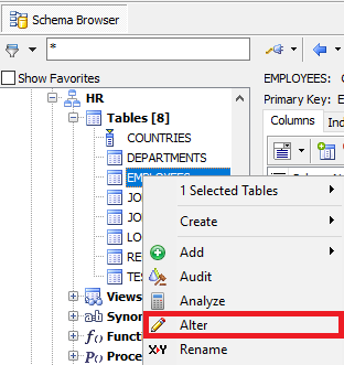 how to view table foreign keys  fk  in toad for oracle