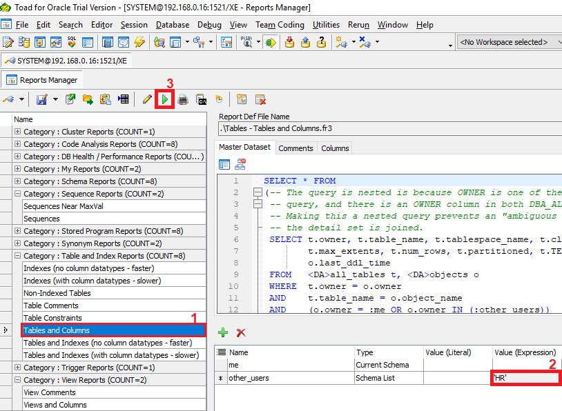 How to export data dictionary with Toad for Oracle - Toad