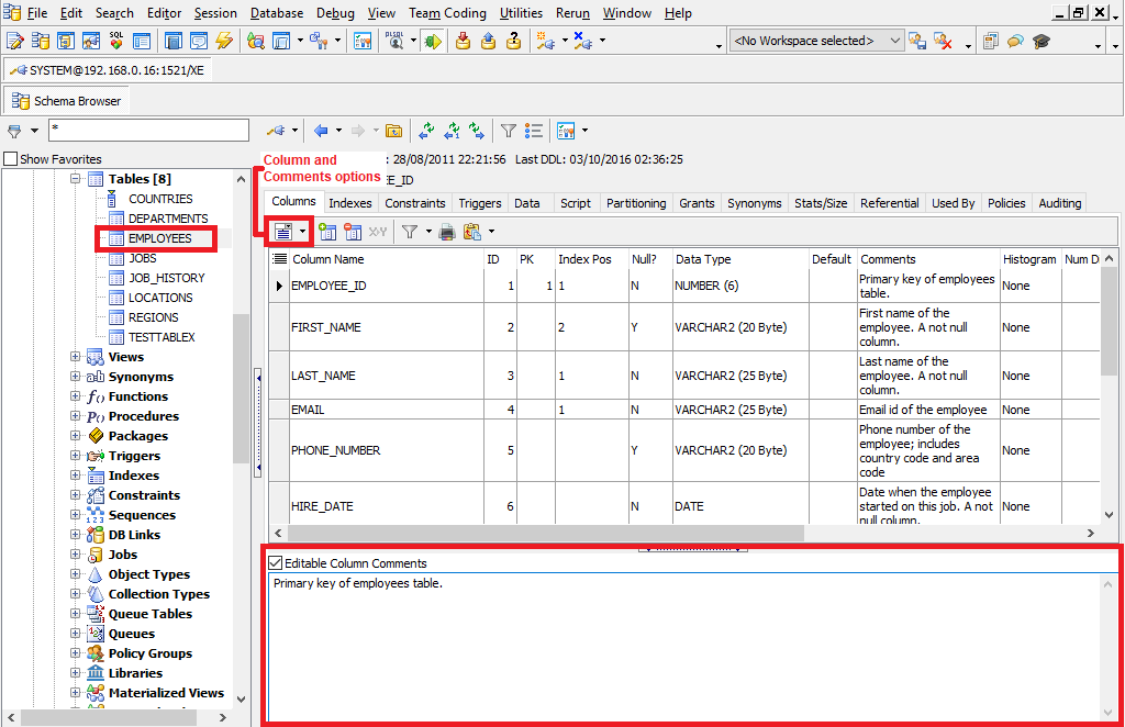 How To Check The Last Ddl On Table In Oracle Query to Check