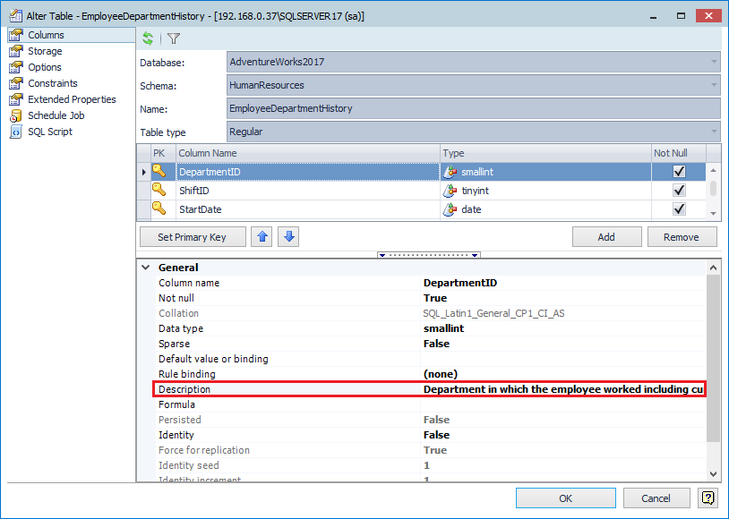 How to view and edit table and column comments with Toad for SQL