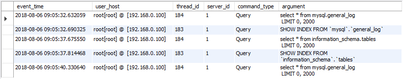 Find last query executed by specific session on MariaDB