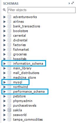 List databases (schemas) on MariaDB instance - MariaDB Data