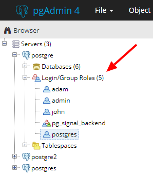 List users in PostgreSQL database - PostgreSQL Data