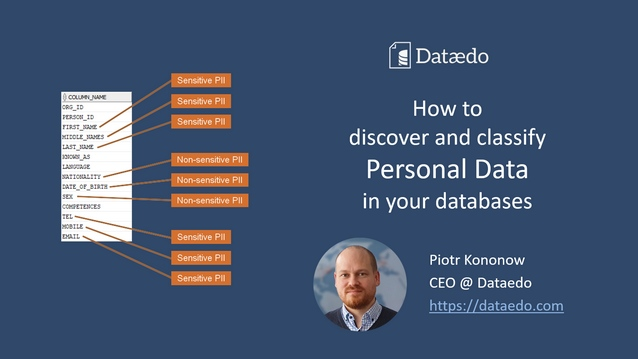 PowerPoint: How to discover and classify personal data in your databases