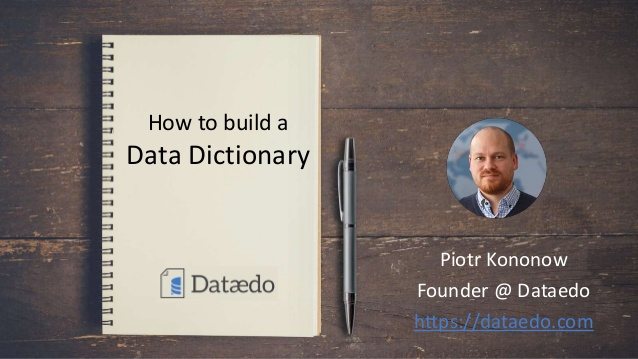 PowerPoint: How to build a data dictionary