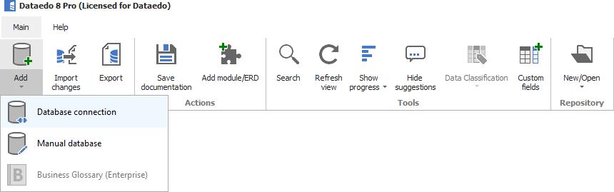Add documentation button