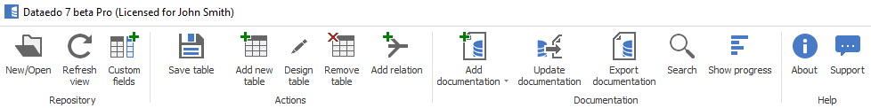 Add documentation button