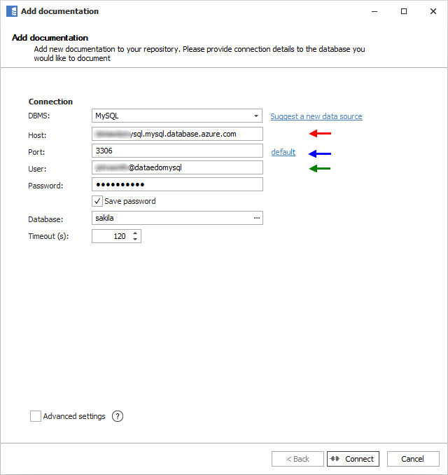 Connect to Azure Database for MySQL
